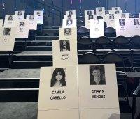 Camila Cabello and Shawn Mendes Seating Cards 2019 MTV VMAs Seating