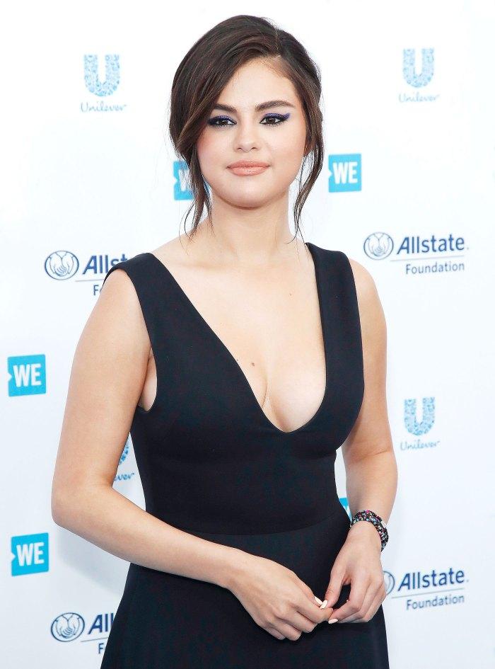 Selena Gomez Navy Dress April 25, 2019
