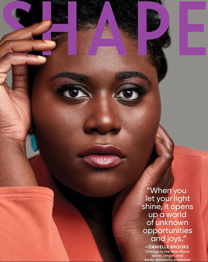 Shape Magazine Cover Danielle Brooks Orange Is The New Black Body Positivity Expectant Mother