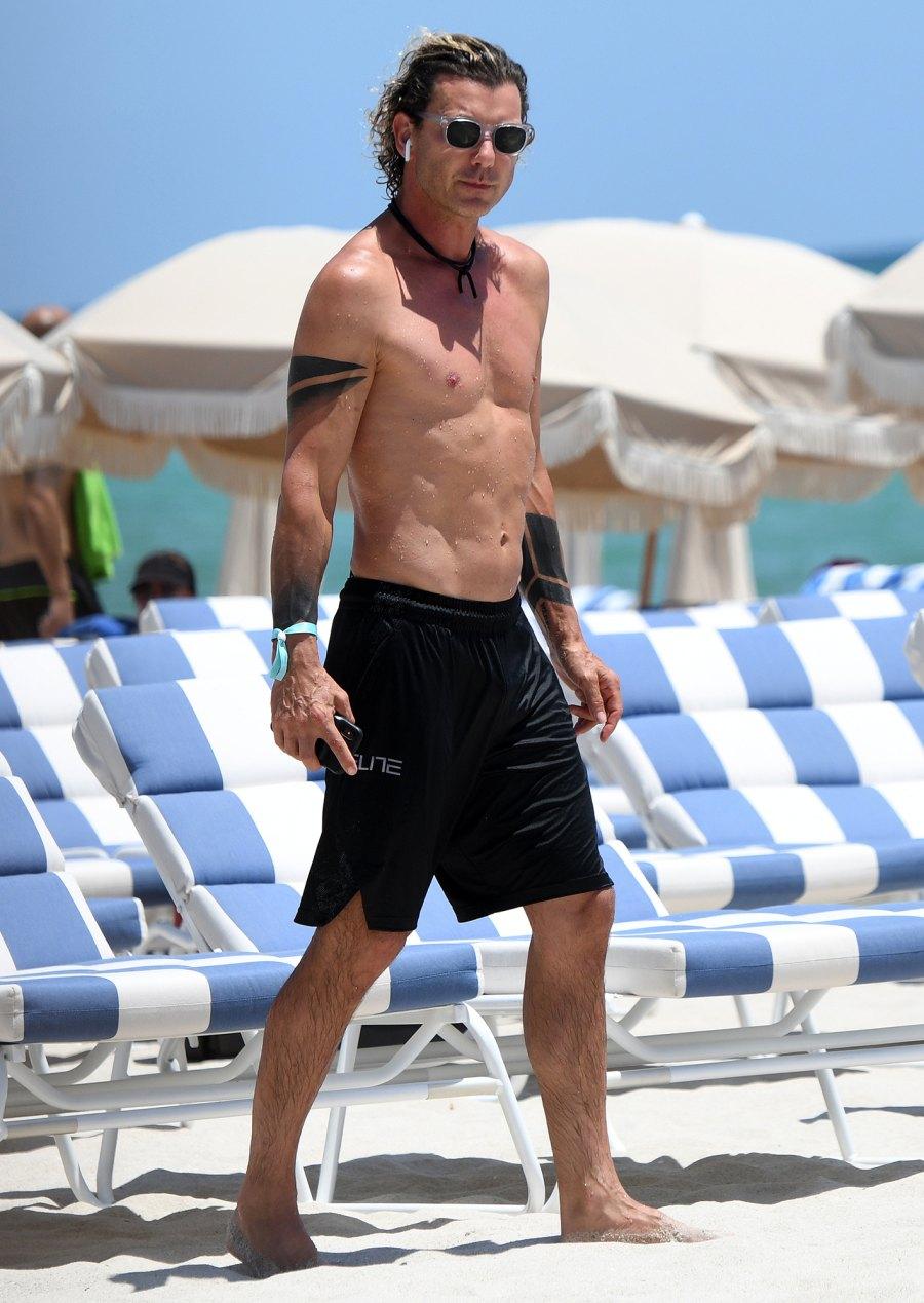 Shirtless Gavin Rossdale On Beach