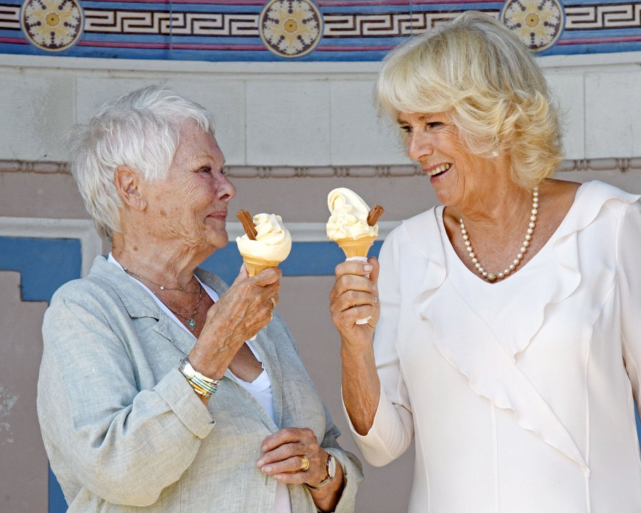 Stars Scream For Ice Cream Duchess Camilla and Judi Dench