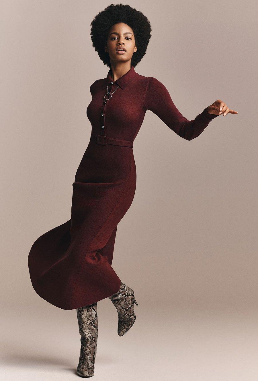 Zendaya x Tommy Hilfiger Collection - Zendaya Long Sleeve Midi Dress