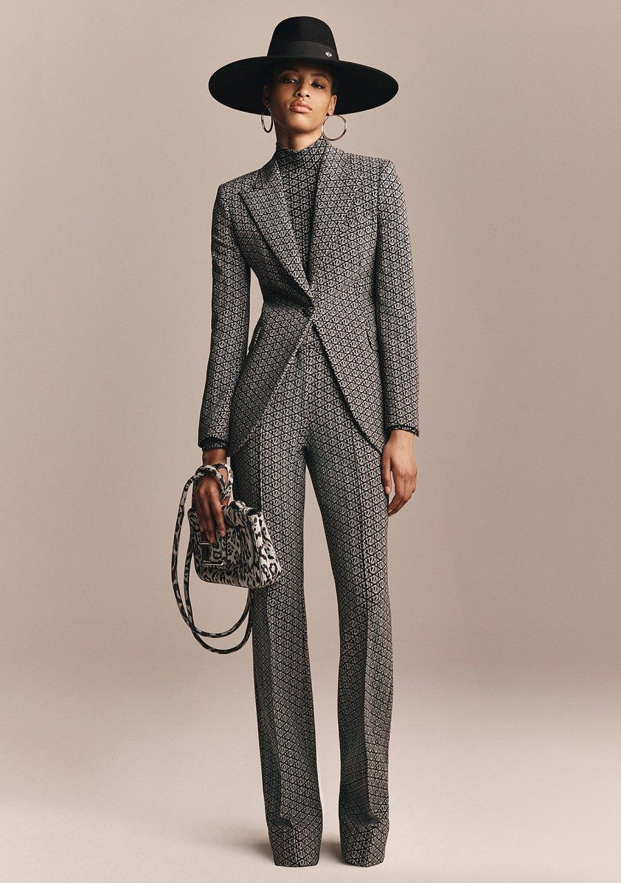 Zendaya x Tommy Hilfiger Collection - Zendaya Monogram Print Flared Blazer and Trousers