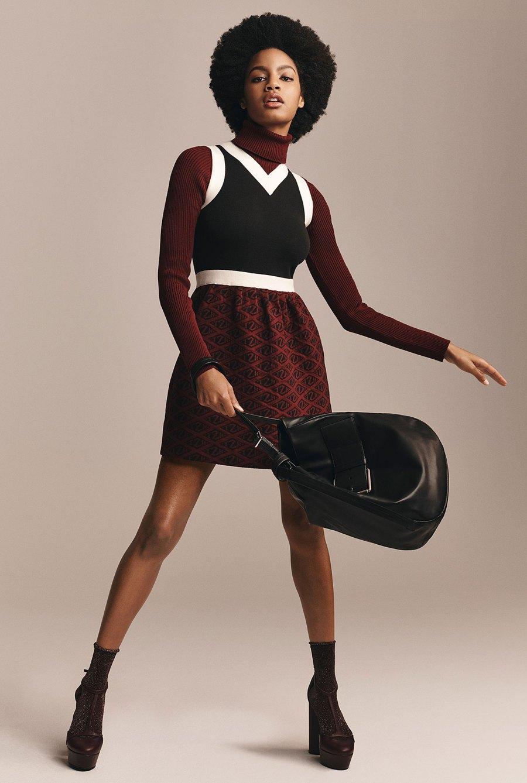 Zendaya x Tommy Hilfiger Collection - Zendaya Monogram Print Jumper Dress