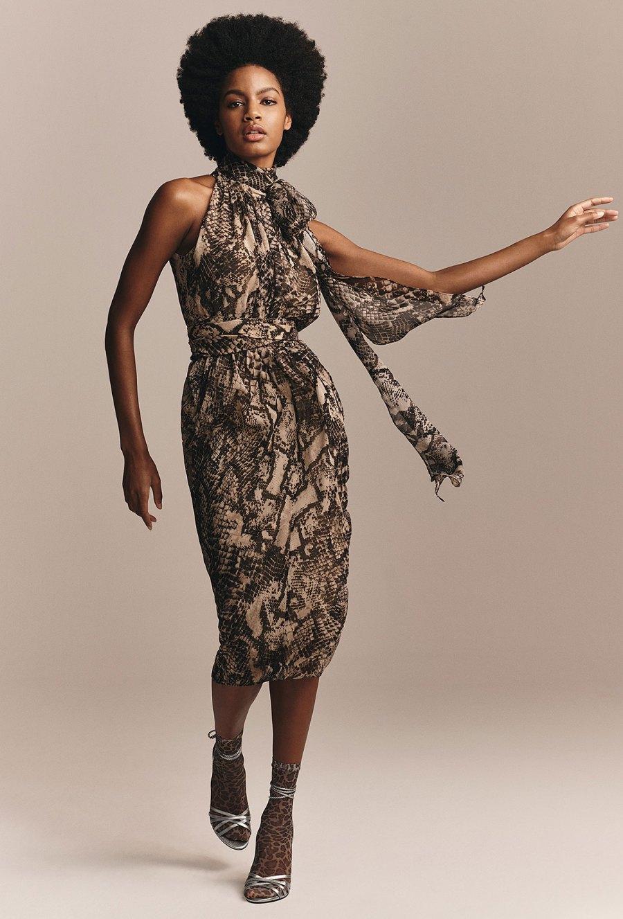 Zendaya x Tommy Hilfiger Collection - Zendaya Snake Print Halter Neck Dress