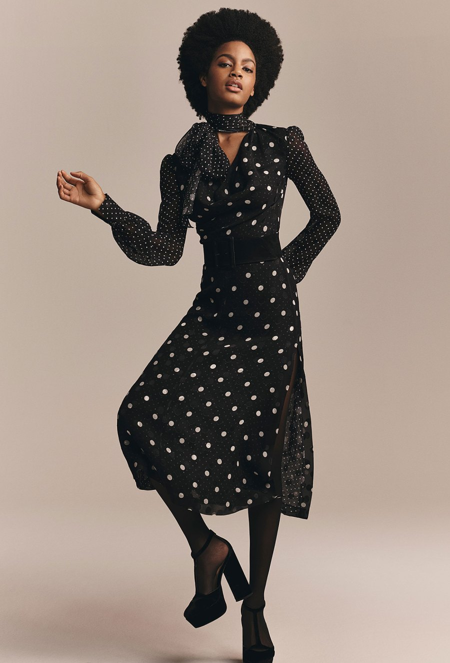 Zendaya x Tommy Hilfiger Collection - Zendaya Polka Dot Dress