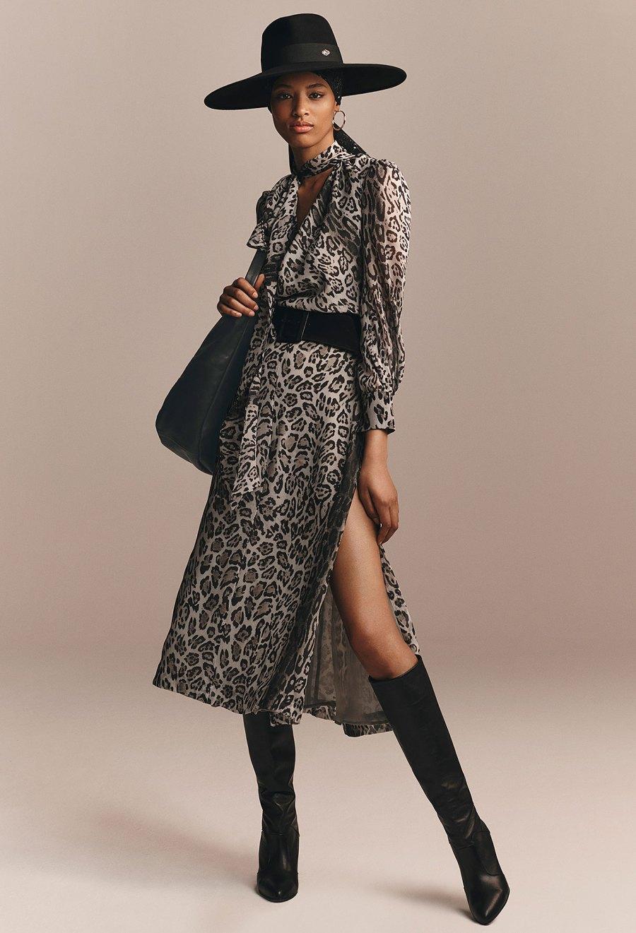 Zendaya x Tommy Hilfiger Collection - Zendaya Snow Leopard Print Dress