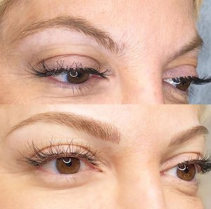 Tori Spelling Microblading Before and After Instagram
