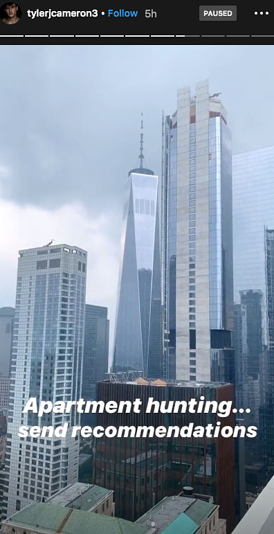 Tyler Cameron Apt Hunting NYC Skyline