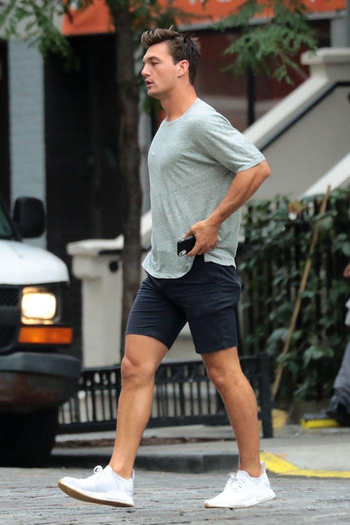 Tyler Cameron Leaving Gigi Hadid Apartment