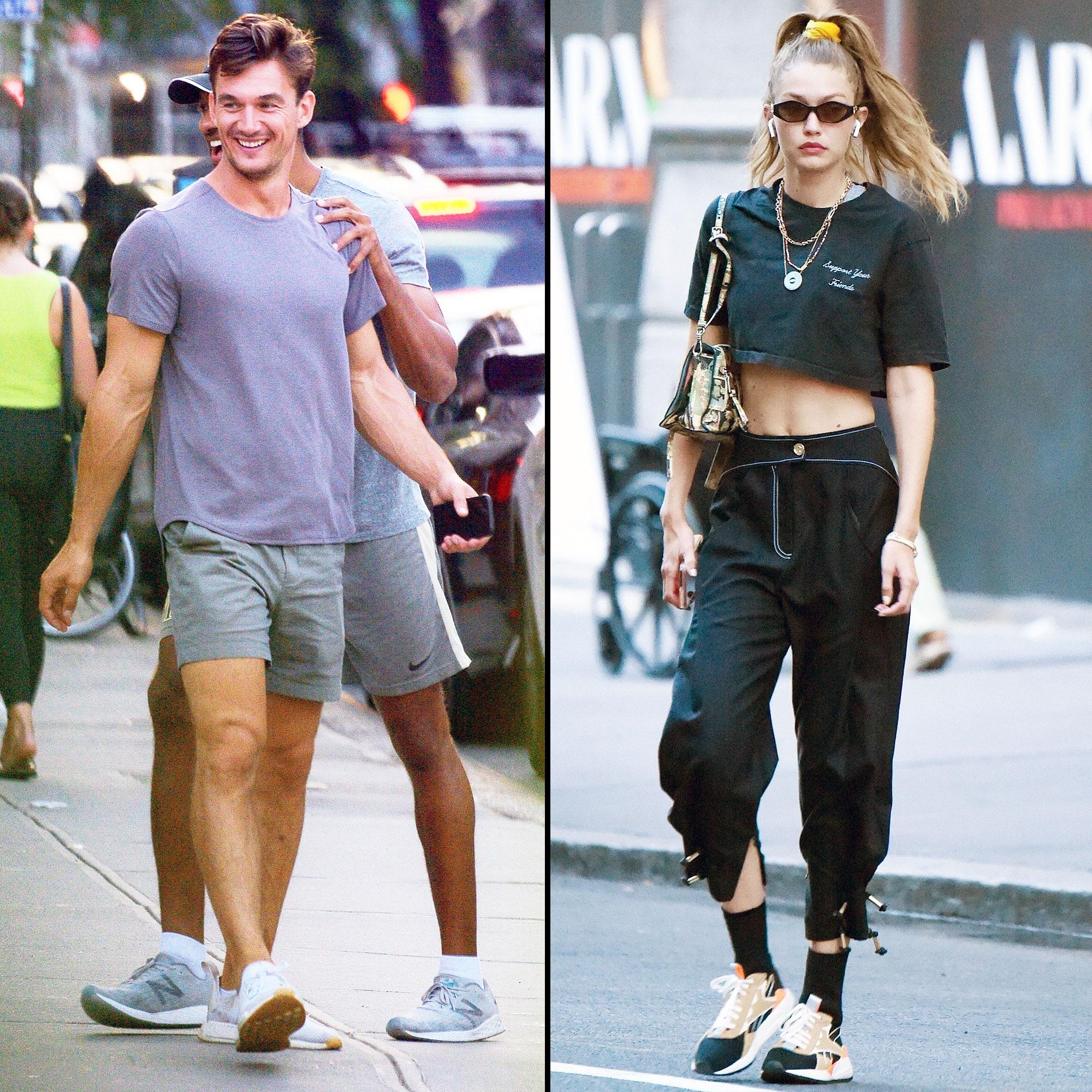 Tyler Cameron Spotted Leaving Gigi Hadid Apartment Again
