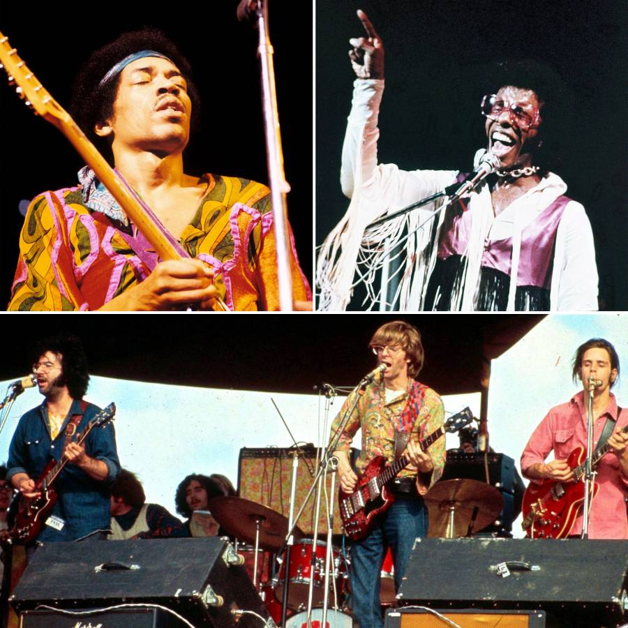 Woodstock Then and Now Jimi Hendrix, Sly and The Family Stone, Grateful Dead