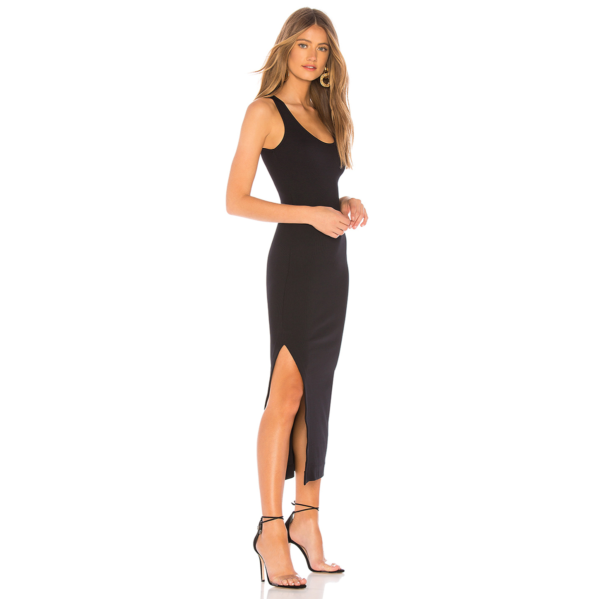 black dress slit