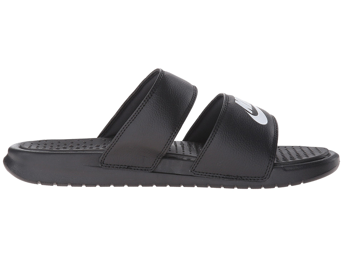 nike slides black