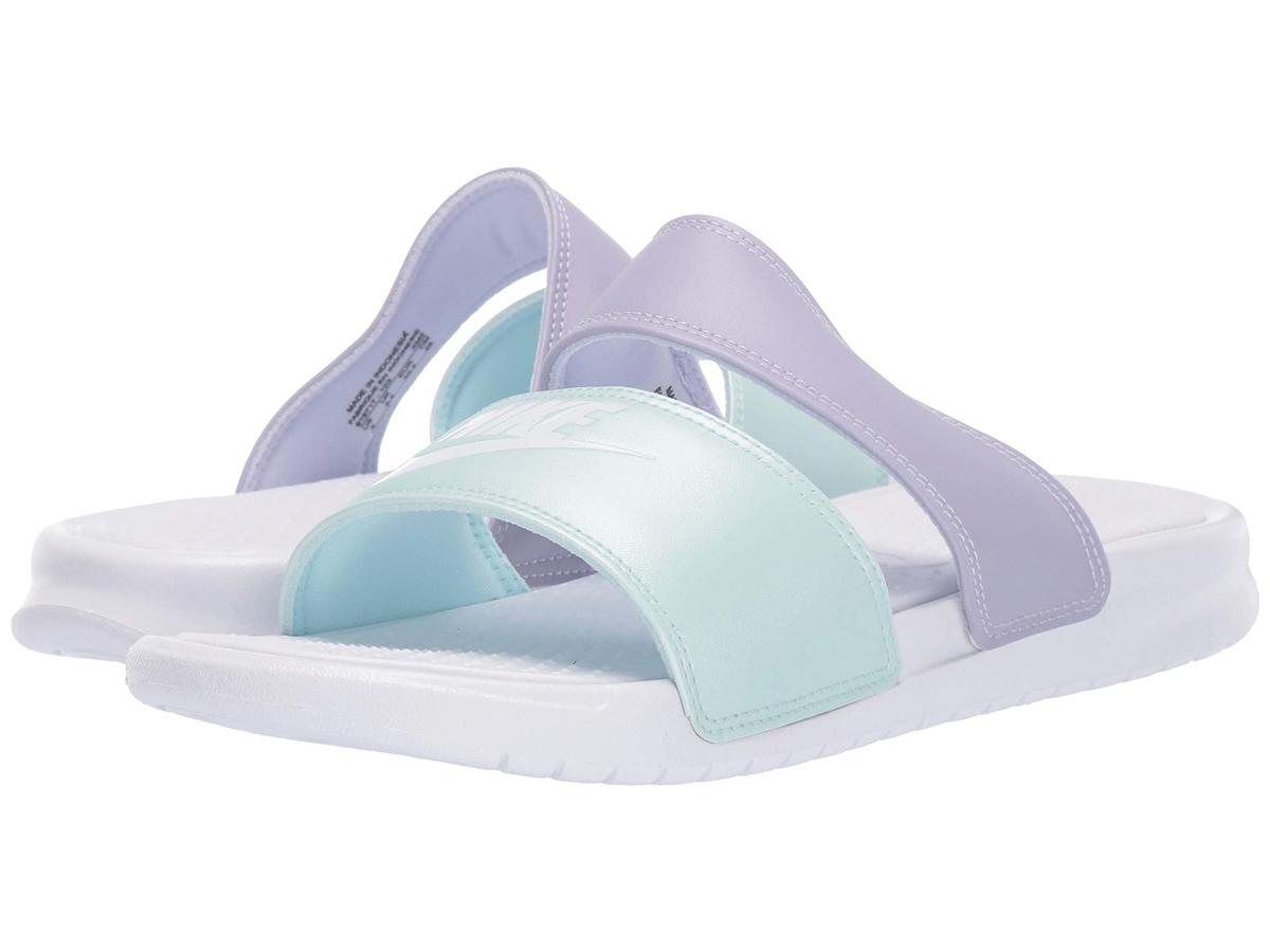 nike slides blue purple