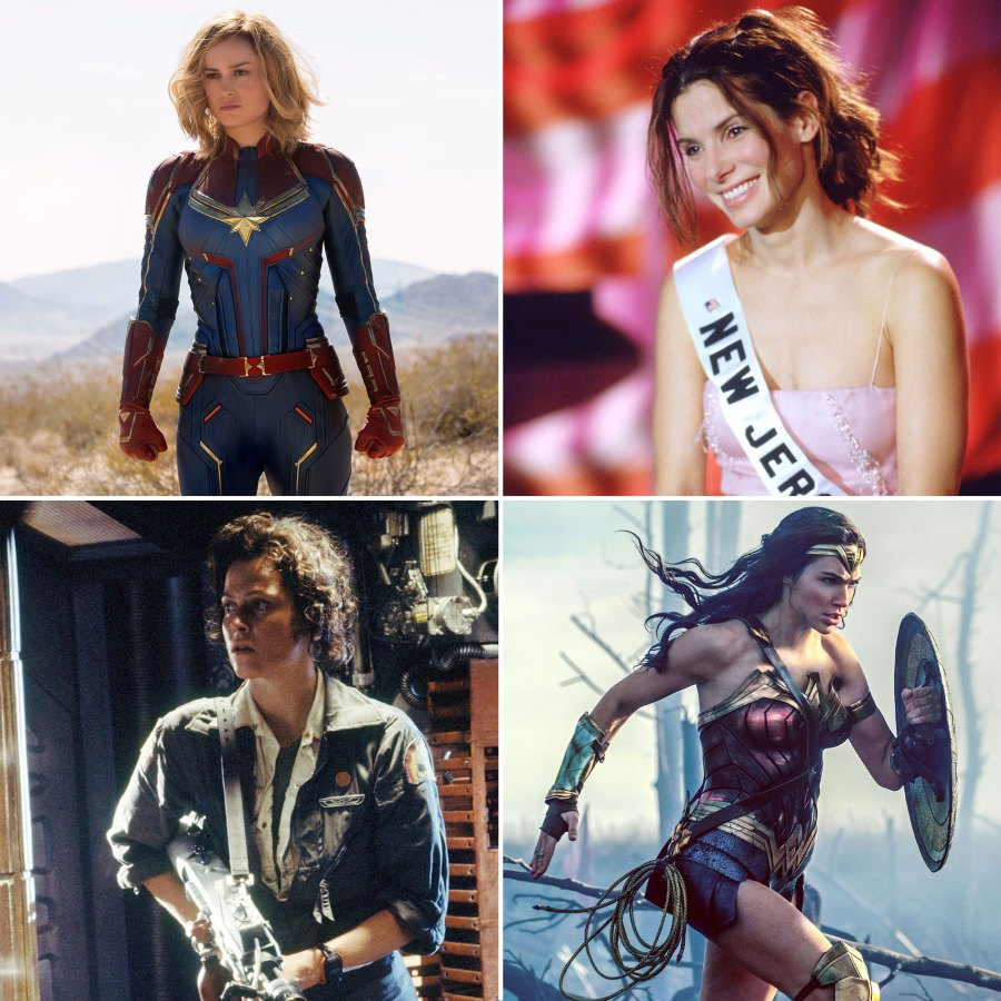 12 of The Strongest Female Movie Characters Brie Larson Sandra Bullock Sigourney Weaver Gal Gadot