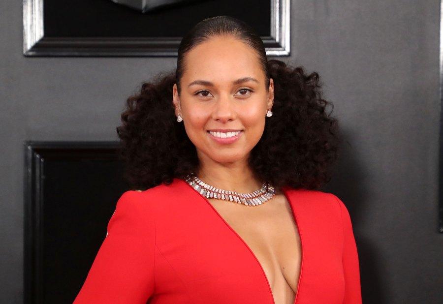 Alicia Keys Red Dress Global Citizen Festival
