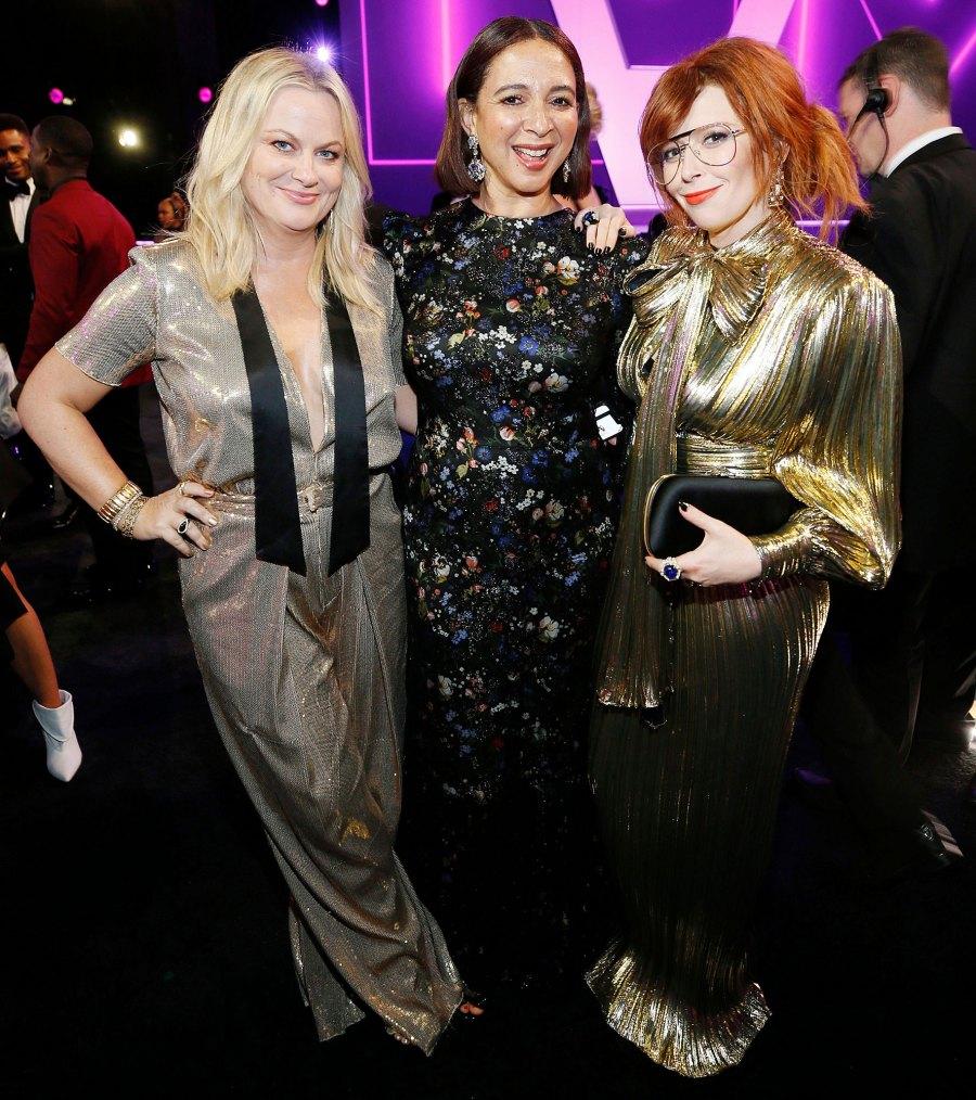 Amy Poehler Maya Rudolph and Natasha Lyonne Inside Emmys 2019