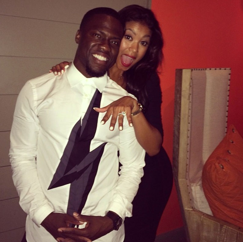 August 2014 Kevin Hart and Eniko Parrish Engagement Ring Kevin Hart Instagram Kevin Hart and Eniko Parrish A Timeline of Their Relationship