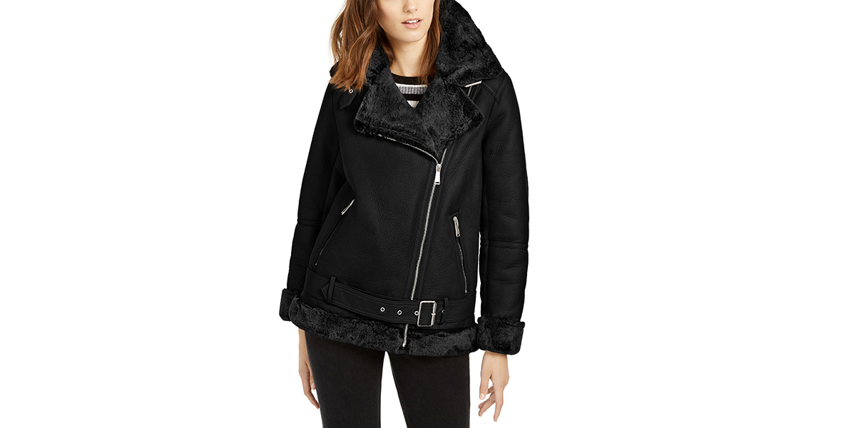 BCBG-Faux-Fur-Jacket-Black