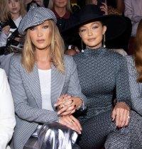 Bella Hadid and Gigi Hadid Front Row Tommy Hilfiger Show NYFW Show