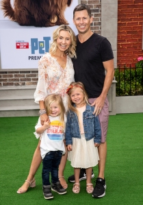 Beverley Mitchell and Michael Cameron with Family