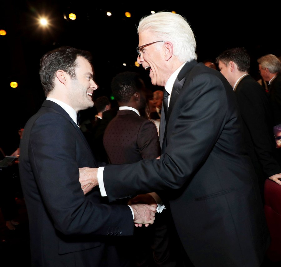 Bill Hader and Ted Danson Inside Emmys 2019