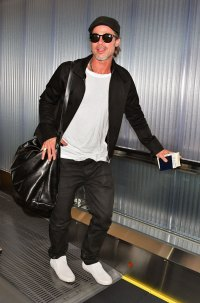 Brad Pitt Is All Smiles Arriving in Japan After Son Maddox's Comments About Their Tense Relationship