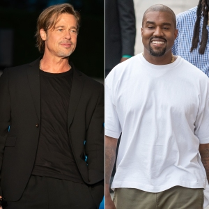 Brad Pitt and Kanye West