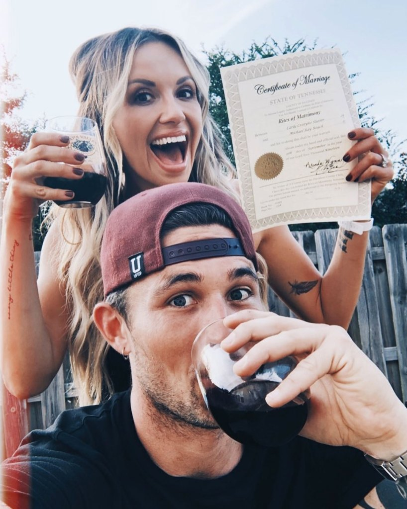 Carly Pearce and Michael Ray Marry Instagram Selfie