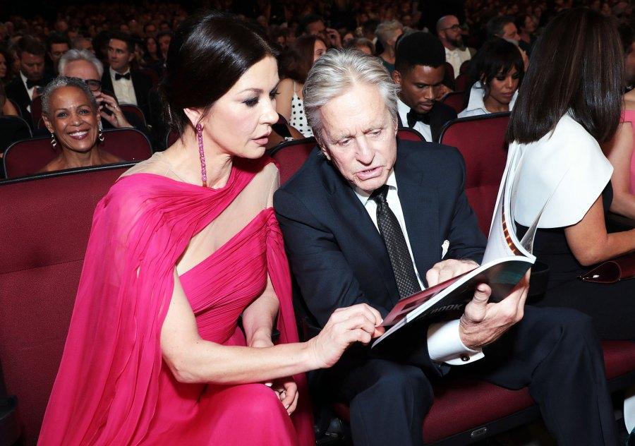 Catherine Zeta-Jones and Michael Douglas Inside Emmys 2019