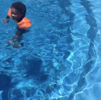 Celebrity Parents Teaching Their Babies to Swim