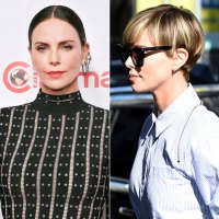 Charlize Theron Hair Change Brunette to Blonde Pixie