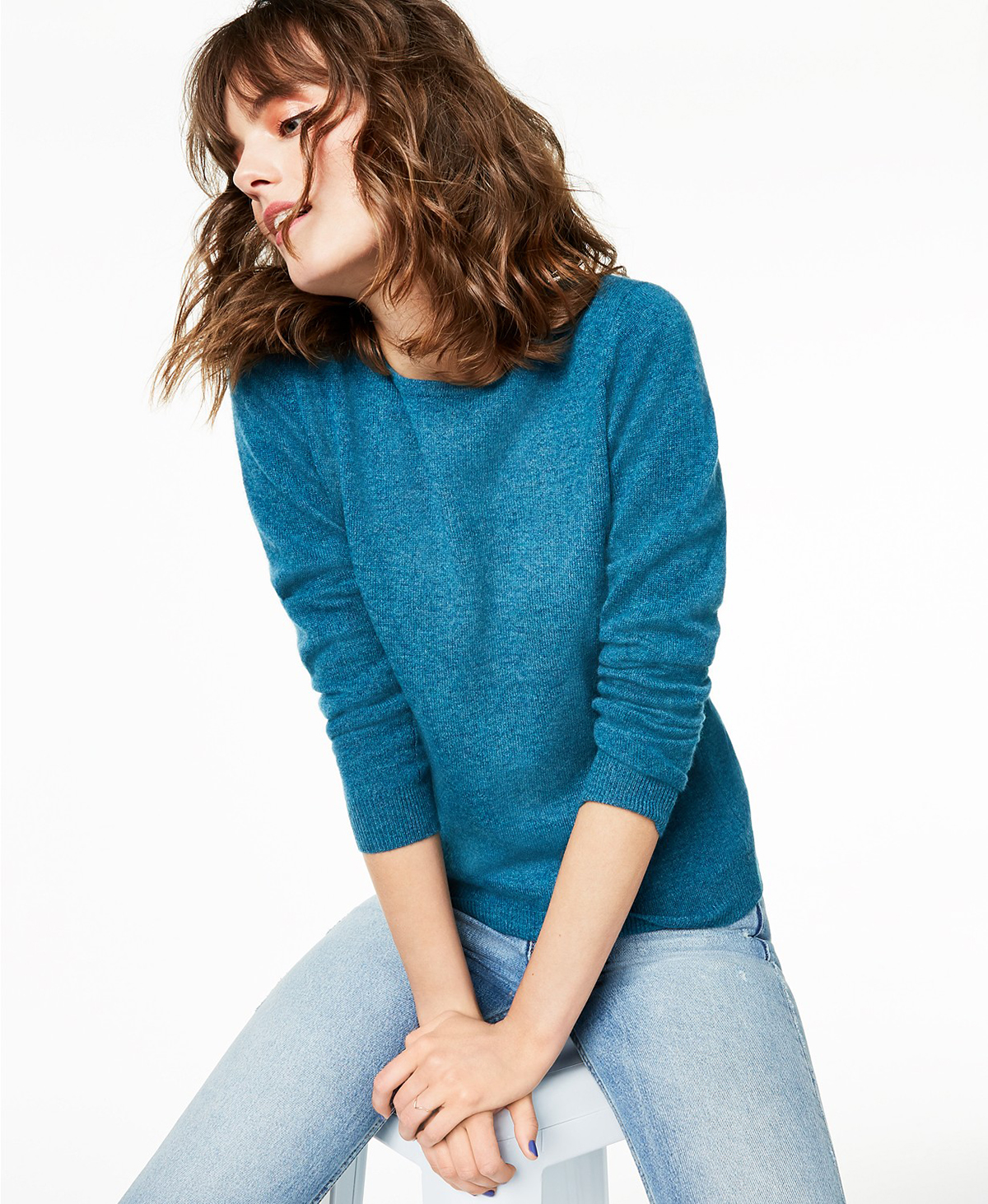 Charter Club Cashmere Sweater blue