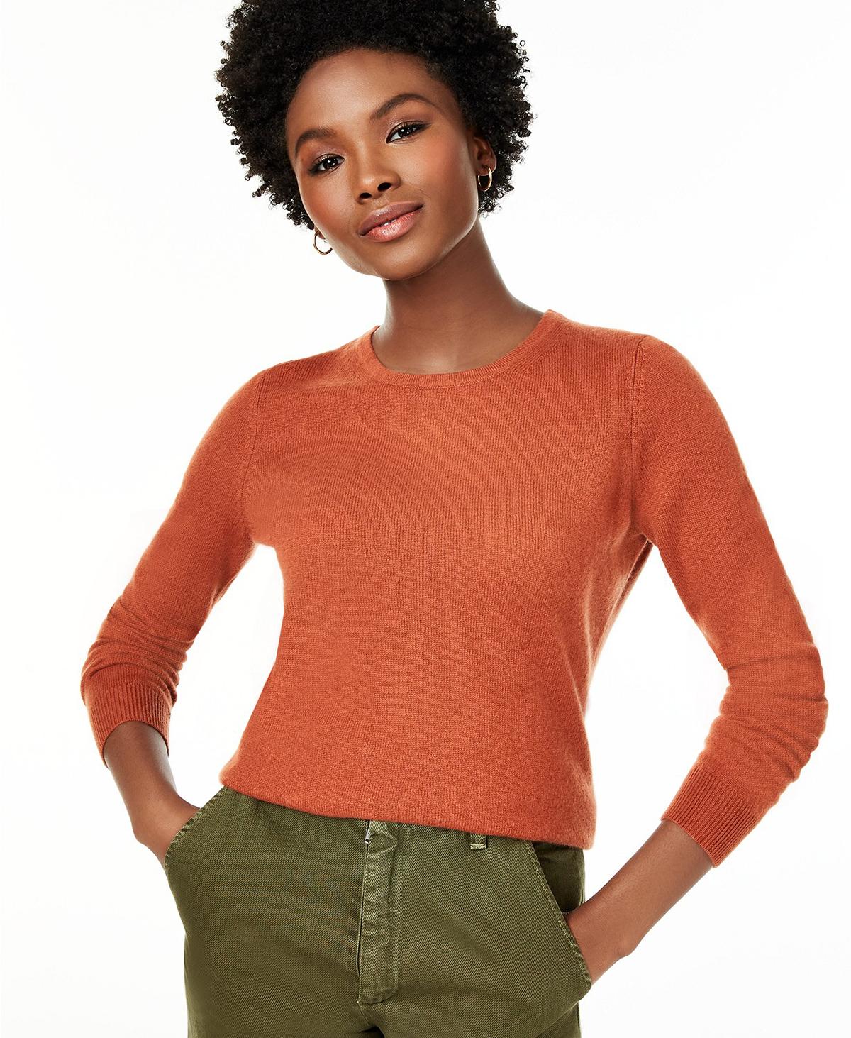 Charter Club Cashmere Sweater orange