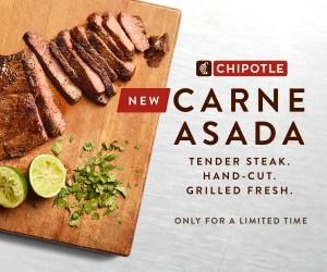 Chipotle Launches Whole30, Paleo Compliant Carne Asada