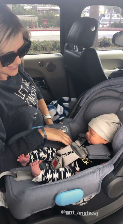 Christina and Ant Anstead Leave Hospital With Newborn Son Hudson
