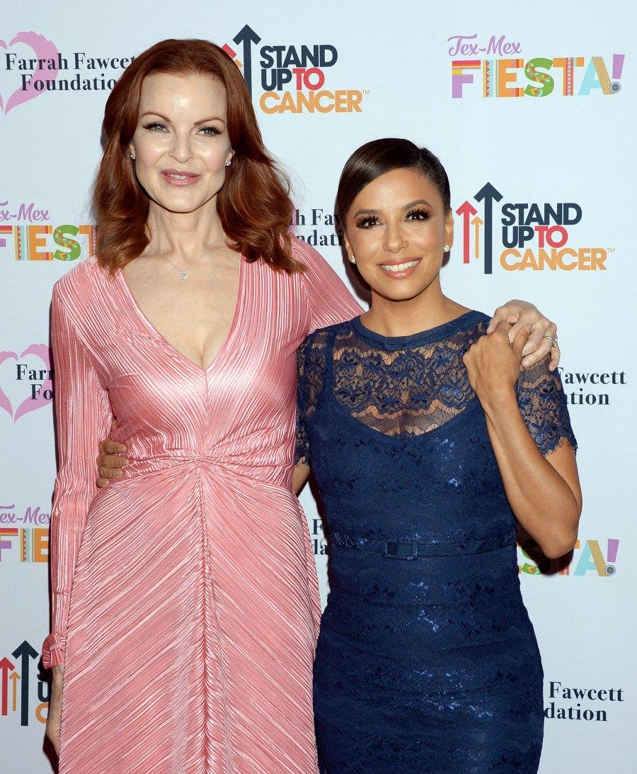 Costars Reunited Desperate Housewives Marcia Cross and Eva Longoria