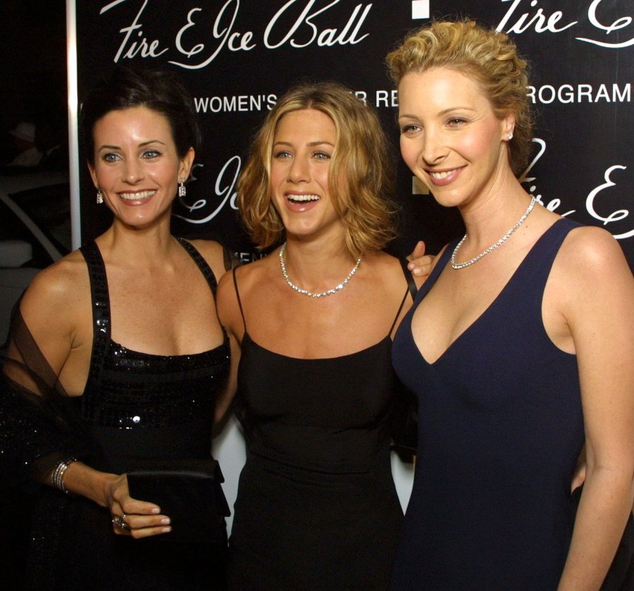 Courteney Cox, Jennifer Aniston and Lisa Kudrow 10th Annual Fire & Ice Ball 'Friends' Cast Reuniting Through the Years