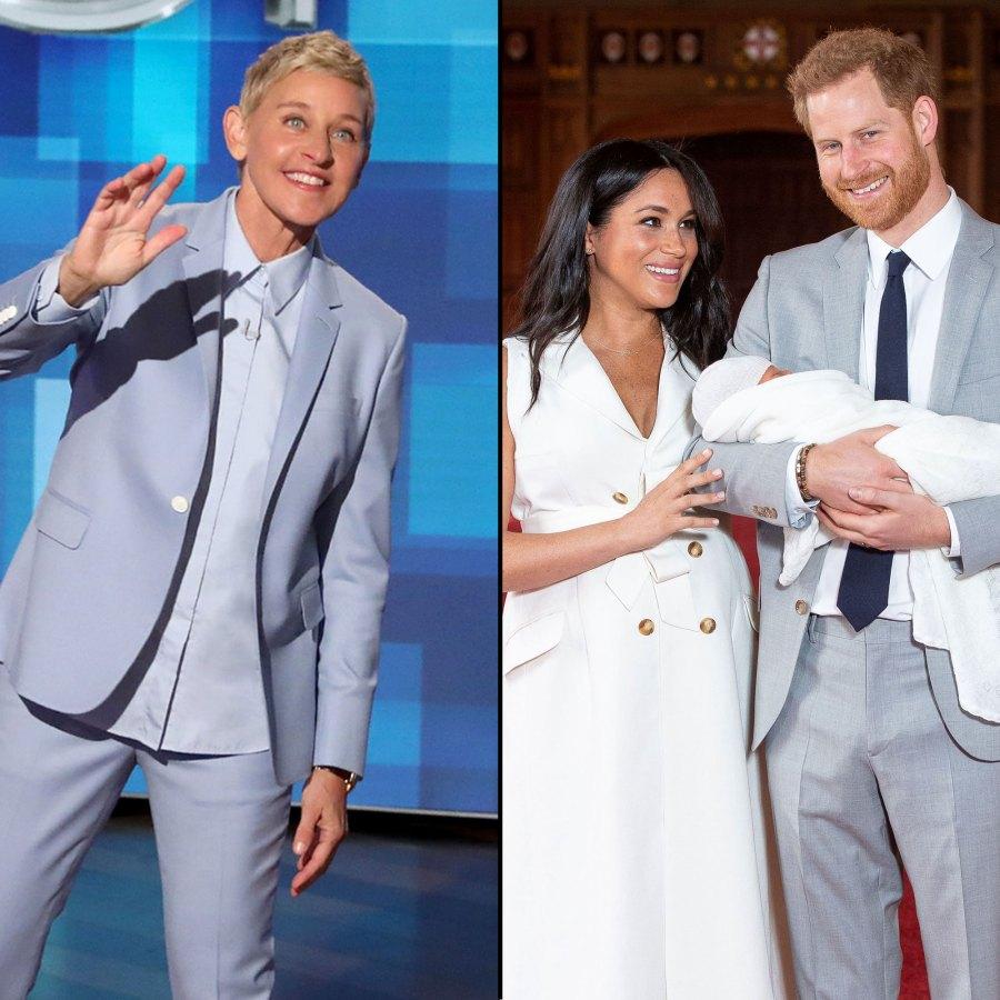 Ellen DeGeneres Met Prince Harry and Duchess Meghan's Son Archie