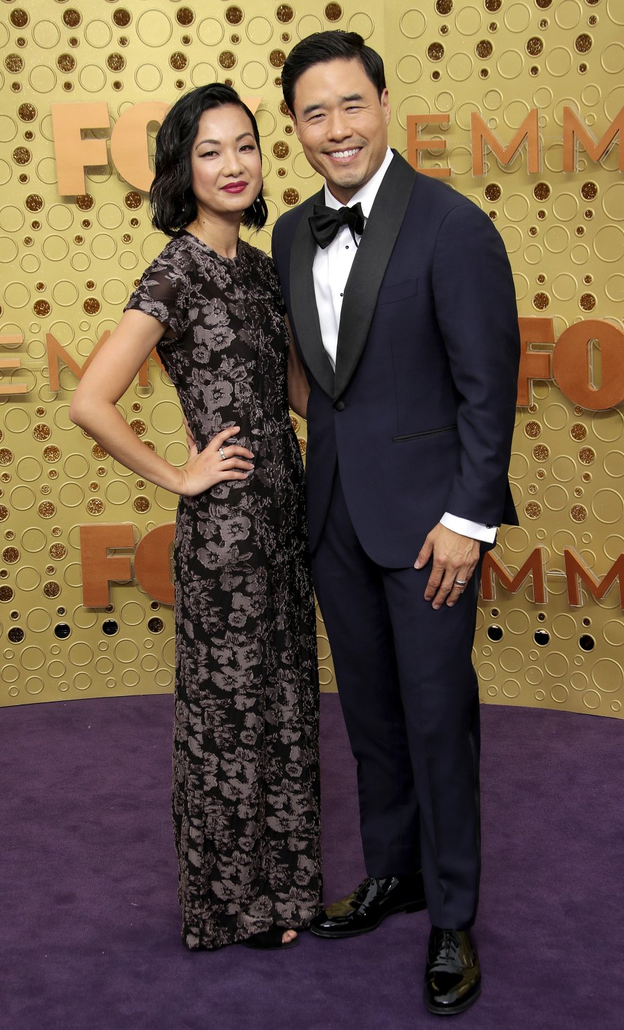 Emmys 2019 Stylish Couples - Randall Park and Jae W. Suh