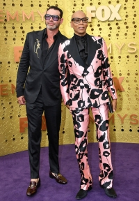 Emmys 2019 Stylish Couples - Georges LeBar and RuPaul