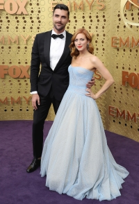 Emmys 2019 Stylish Couples - Brittany Snow and Tyler Stanaland