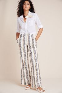 Eyelet-Striped Trousers