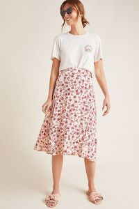 Faithfull Valois Floral Wrap Skirt