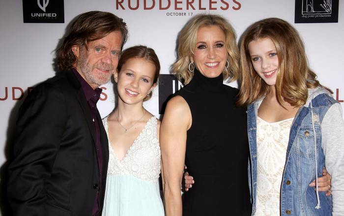 Felicity Huffman's Daughter Sophia Cried Over College Scandal William H. Macy and Felicity Huffman with daughters Sophia Grace and Georgia Grace Macy