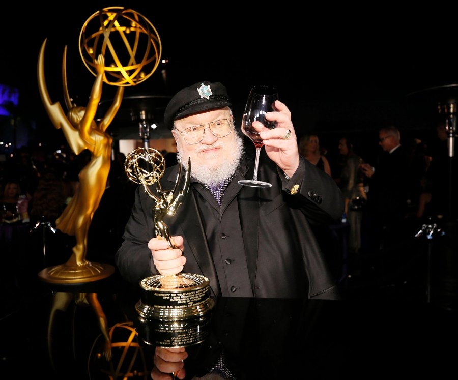 George R R Martin Drinking Wine Governors Ball Emmys 2019 After Party