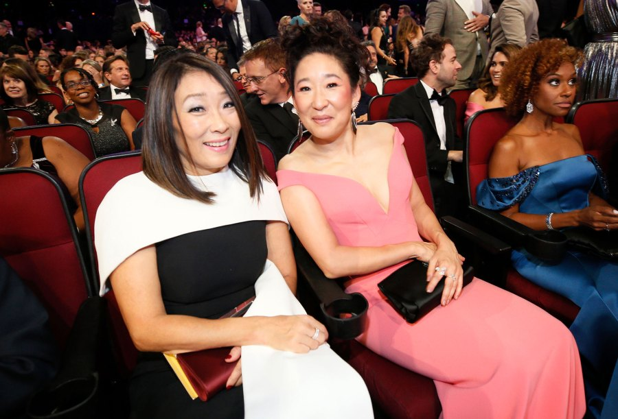 Grace Oh and Sandra Oh Family Gallery Emmys 2019