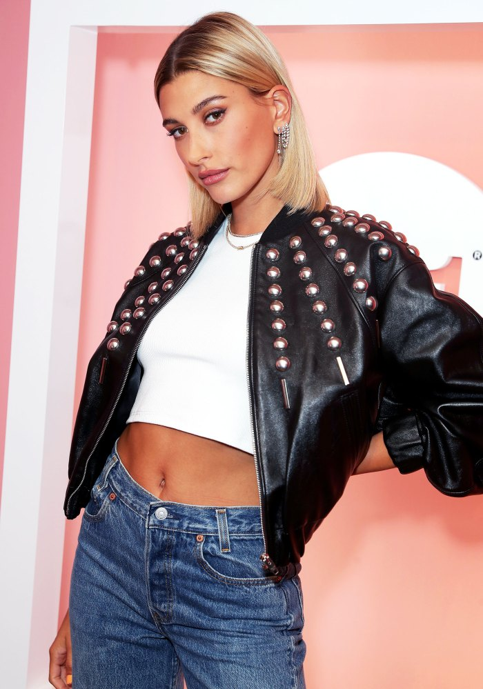 Hailey Bieber Leather Jacket May 18, 2019