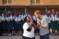 Harry and Meghan Africa Royal Tour Day 7 Nalikule College of Education in Malawi